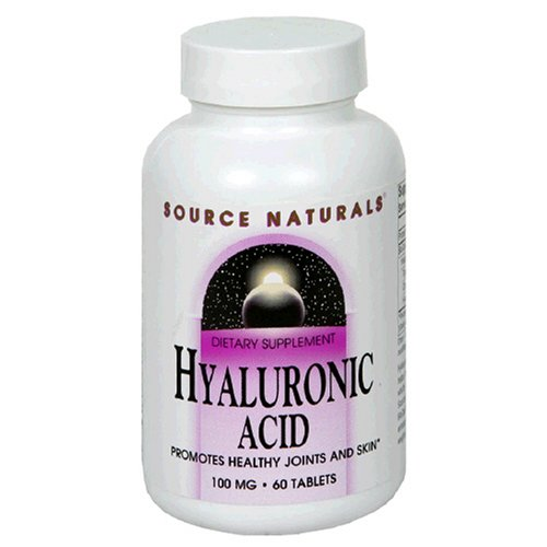 Source Naturals Acide Hyaluronique 100mg 60 Comprimés,