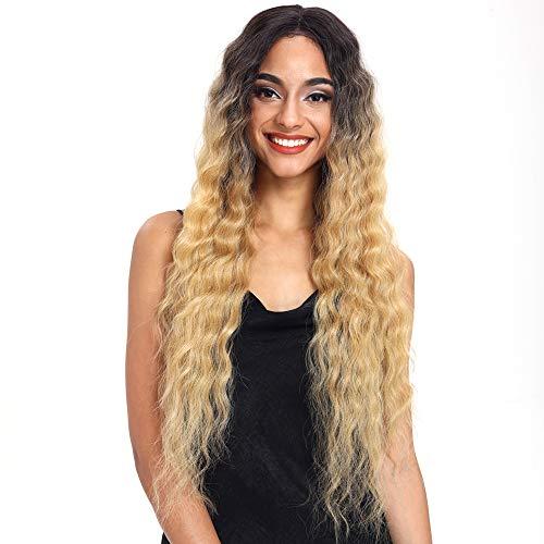 Joedir Lace Front Wigs 30'' Long Wavy Synthetic Wigs For Black Women 130% Density Wigs(TTPN4/270A/24F)