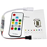 HKBAYI DC5V / DC12V Wireless mini 14keys RF Digital Color RGB LED Controller for WS2811 WS2812 WS2812B LED Strip (DC 5V)
