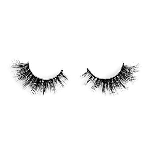 Lunamoon 3D Mink False Eyelashes Siberian Mink Fur Long Thick Hand-made Reusable Eyelashes Natural Look for Women's Makeup 1 Pair Pack (Avril)