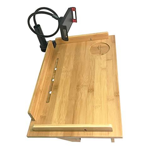 Easy Home Large Bamboo Bedside Shelf, XL Hanging Dorm Bed Ta