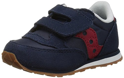 Saucony Jazz Hook & Loop Sneaker (Toddler/Little Kid), Navy/Red, 11 M US Little Kid