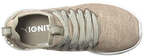 Puma Frauen Ignite Flash Evoknit EP Schuhe Rock Ridge/Metallic Beige