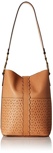 FRYE Ilana Perf Bucket Hobo Shoulder Bag, Light Tan by FRYE