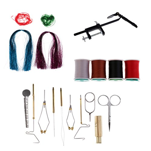 - DYNWAVE Fly Tying Standard Tool Kit, Including: Fly Tying Vise, Bobbin Holder, Whip Finisher, Hackle Pliers, Fly Tying Bodkin, Hair Stacker