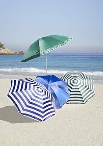 /Ø 160 cm 160 cm Ombrellone da Spiaggia Meinposten Blu e Verde Posizioni di opinione ombrellone da Giardino ombrellone da Spiaggia