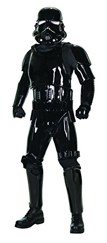 [Rubie's Costume Co. Men's Star Wars Supreme Edition Shadow Trooper Costume, Black, Standard] (Supreme Stormtrooper Costumes)