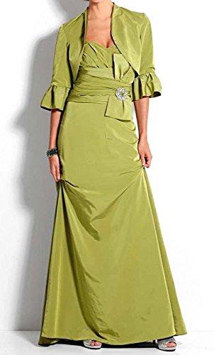 grün mit Heine Abendkleid Gr Bolero qZ1Wtwant