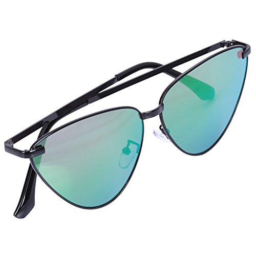 manera sol gris gato de de sol Frame lentes de negro de S8007 Gafas la ojos metal espejo del los del negro claros la unisex vendimia senoras del de abrigo purpura SODIAL de amp; qIwfF8f