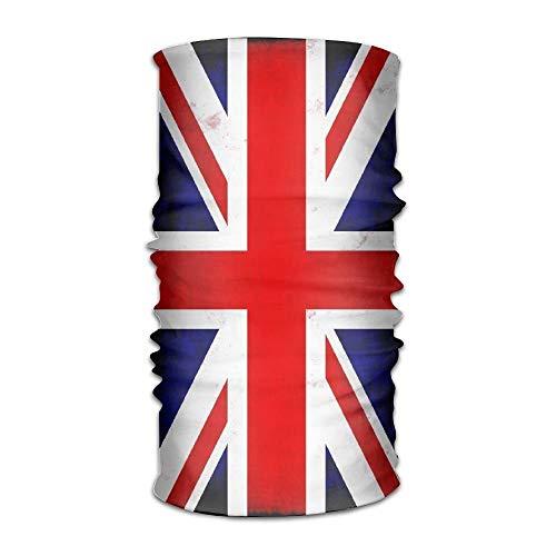 (Unisex Stylish Union Jack British Flag UK Quick Dry Microfiber Headwear Outdoor Magic Bandana Neck Gaiter Head Wrap Headband Scarf Face Mask Ultra Soft Elastic Handscarf 9.8X19.7inches,25X50cm)