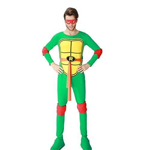 HUGGUH Teenage Movie Mutant Ninja Turtles Costume Cosplay Disfraces Fantasy Exotic Clothes Hot Highly Elastic (Hot Ninja Turtle Costumes)