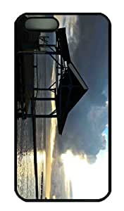 iPhone 5S Case - Customized Unique Design Morning At Ide Beach New Fashion PC Black Hard