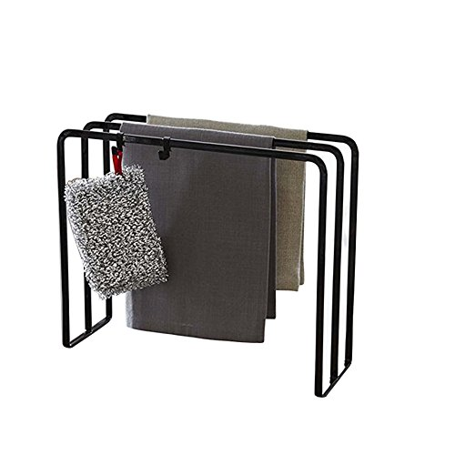 3 Tier Metal Towel Bar Stand with Hook for Bathroom and Kitc