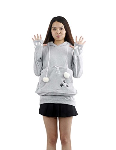 Cat Pouch Amazoncom - Hoodie with kangaroo pouch is the perfect cat accessory