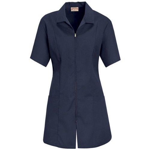 Red Kap Women's Plus Size Zip-Front Smock, Navy, XX-Large