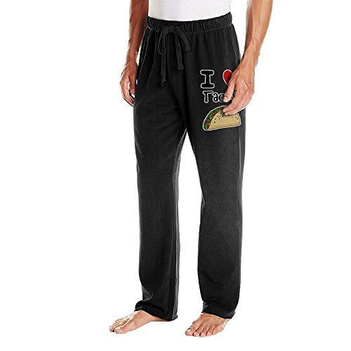 Men's Jogger Sweatpants I Love Tacos Casual Stretch Cotton Fleece Sweatpants by BibiQQgait