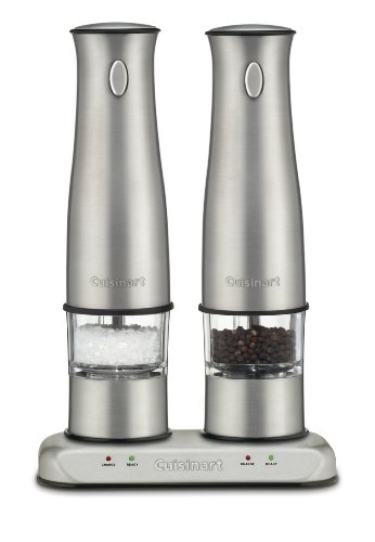 Cuisinart SP-2 Stainless Steel Rechargeable Salt and Pepper Mills (Electric Pepper Mill)