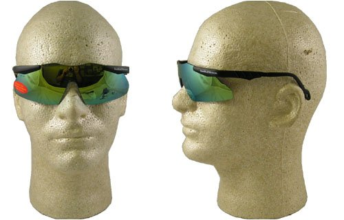 (Smith & Wesson Magnum Mirror Black Standard Safety Glasses - Wrap Around Frame - 20337 [PRICE is per EACH])