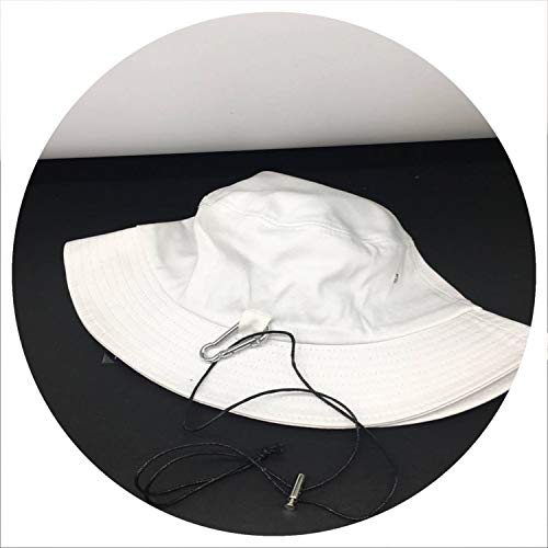 Ivyi 2019 Sunsn Men Women Bucket Hat Caps Summer Solid Color Cotton Fisherman Hats,yle1 White ()