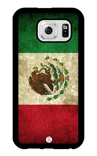 iZERCASE Samsung Galaxy S6 Case Mexican Flag RUBBER - Fits Samsung Galaxy S6 T-Mobile, AT&T, Sprint, Verizon and International