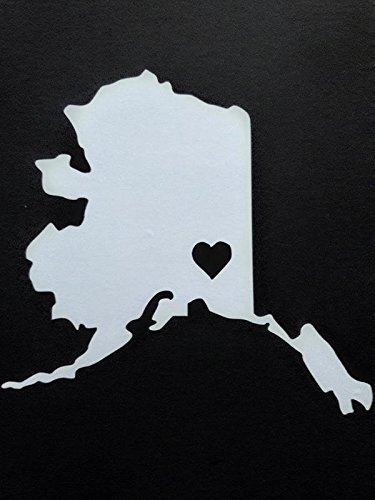 【超目玉枠】 アラスカAlaskanビニールデカールsticker|white|carsトラックVans SUVノートパソコン壁art|5.5