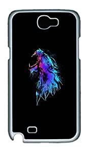 Samsung Galaxy Note II N7100 Cases & Covers - Tiger Roaring PC Custom Soft Case Cover Protector for Samsung Galaxy Note II N7100 - White