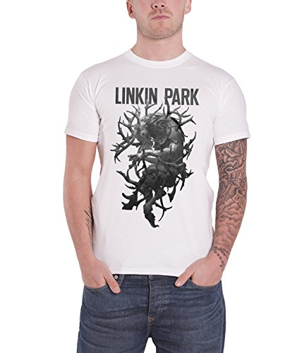 Linkin Park hunting party Antlers offiziell Herren Nue Weiß T Shirt
