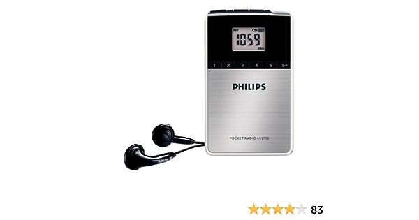 Philips AE6790/00 - Radio de bolsillo (sintonizador FM/OM, reloj integrado), color negro: Amazon.es: Electrónica