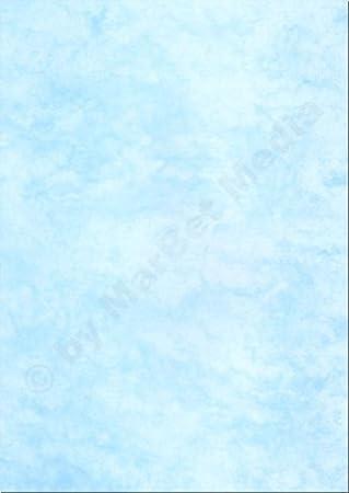 100 x Marmorpapier 90g//m² blau DIN A4 210x297mm Einladungen//Urkunden//Briefpapier