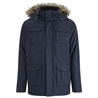 Brave Soul Para hombre Canadá de piel sintética de chaqueta acolchada para niña capucha forrada medio último Stock - reducido a clara Azul azul marino ...