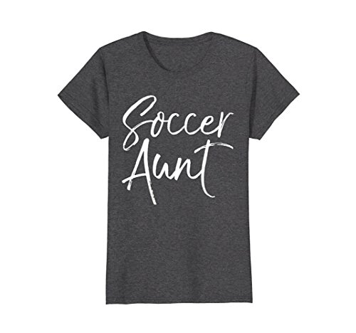 Womens Soccer Aunt Shirt Vintage Proud Auntie High School Tee XL Dark Heather