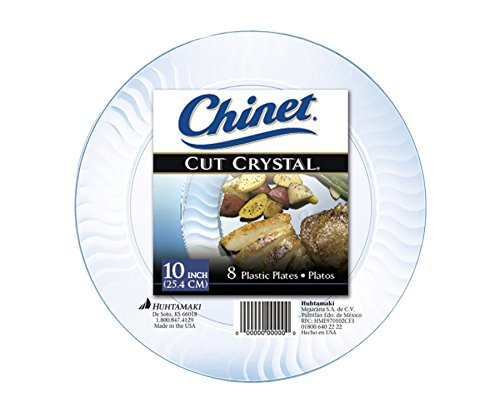 Chinet Cut Crystal Dinner Plates, 10 Inch, 8 ct ()