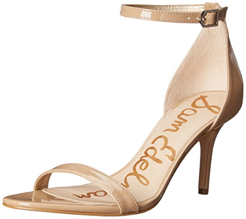 Sam Edelman Women's Patti Dress Sandal, Classic Nude Patent, 7.5 M - Sandal Patent Dress