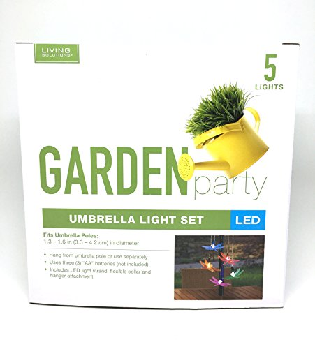 Led Color Changing Dragonfly Umbrella Lights Set of Five by Living Solutions