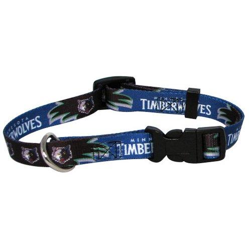NBA Minnesota Timberwolves Adjustable Pet Collar, Team Color, Small