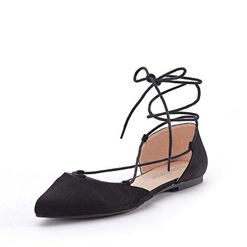 Versión coreana de zapatos de las mujeres en el verano/Asakuchi sandalias de tiras/Zapato del plano/Moda zapatos puntiagudos A