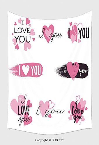 Home Decor Tapestry Wall Hanging I Love You Message And Hear