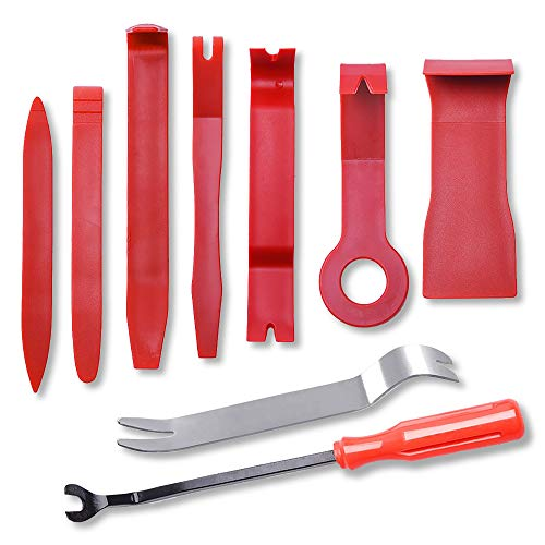 (Car Door Clip Panel Trim Install Removal Tool Kits for Car Dash Radio Audio Installer Pry Tool 9PCS)