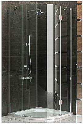 Cuarto circular (cabina de ducha 90 x 90 con al nano-recubrimiento Cristal Redondo Diseño Mampara de ducha para cristal de baño con Alpen Berger: Amazon.es: Bricolaje y herramientas