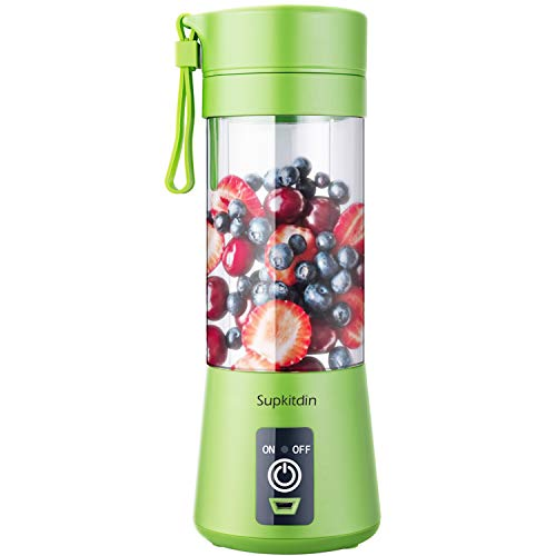 Supkitdin Portable Blender, Personal Mixer Fruit Rechargeable with USB, Mini Blender for Smoothie, Fruit Juice, Milk…