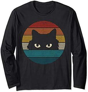 Funny Cat Vintage Retro Kitty Kitten Cat Lover Gift Long Sleeve T-shirt   Size S - 5XL
