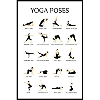 Amazon.com: Workout Posters for Home Gym Yoga Poses ...