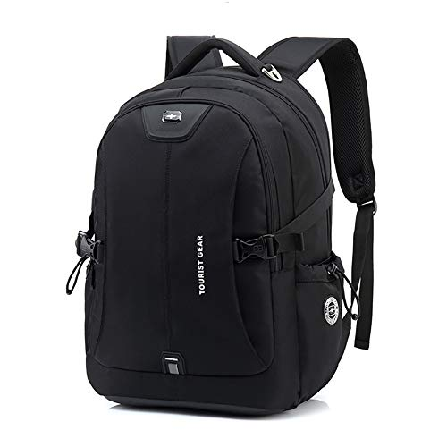 Anti-Theft School Bag Backpack,Nylon Waterproof Laptop Rucksack with USB Charging Port,for 15.6-17 Inch Computer High School The University Student College Daypack-Small