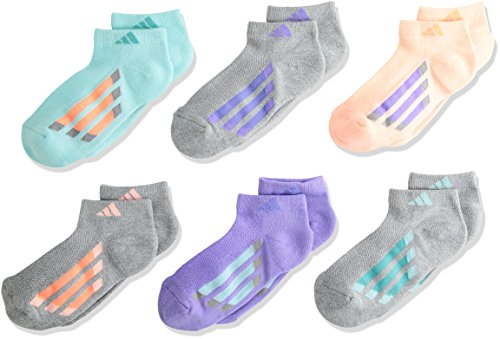 adidas Kids - Girls Cushioned Low Cut Socks (6-Pair)