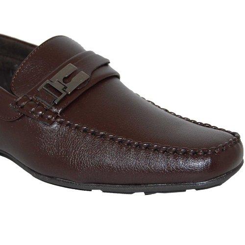 Schoenartiesten Leren Gevoerde Bruine Instappers