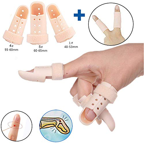 - Finger Splints,3-Size Pack Mallet Finger Brace,Plastic Mallet Dip Finger Support, Trigger Finger, Finger Support Brace, Finger Immobilizer Joint Protection Injury