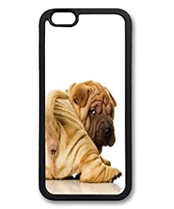 Black Case for iphone 6 Plus,Fashion Cool Art Cute Dog Custom Protective Soft TPU Back Case Cover for iphone 6 Plus
