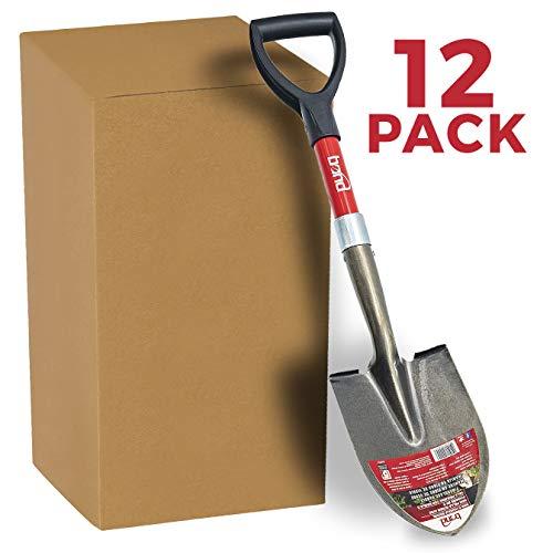 Bond Manufacturing LH015AM Mini D-Handle Shovel (12-Pack), Black