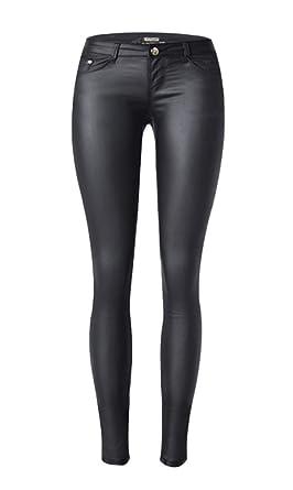 79c28eab468eee Icegrey Damen Leder Hosen PU Leder Leggings Leggins Hoch Taille Stretch  Schlank Hose: Amazon.de: Bekleidung