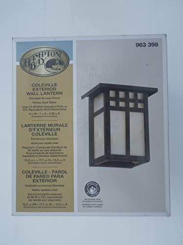 Hampton Bay Coleville Wall-Mount 1-Light Glendale Bronze Outdoor Lantern